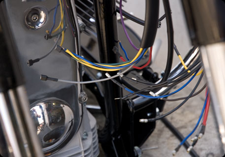older wiring harnesses are vulnerable due to corroded terminal ends and  broken or melted wires caused by tire rub, gas tank pinching or even  throttle/choke